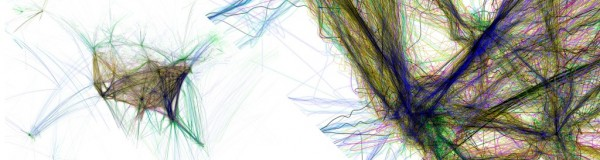 Mind blowing: Flight patterns by Aaron Koblin http://www.aaronkoblin.com/