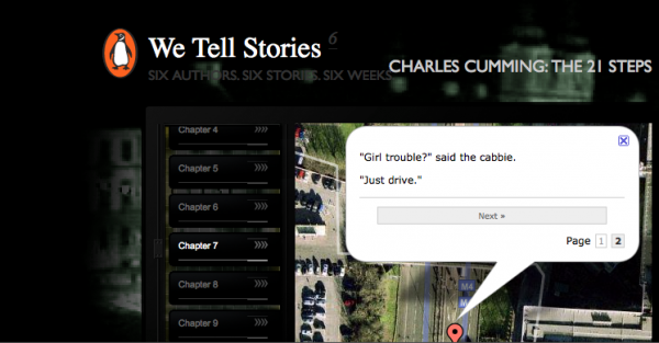 The 21 Steps by Charles Cummings, a story you follow as it unfolds across a map of the world