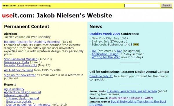 Jakob Nielsen's useit.com